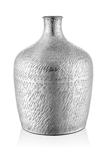 The Mia Dekor Nikel Vazo ve Obje Gümüş